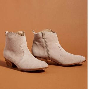 NWT Anthropologie Rodeo suede boots
